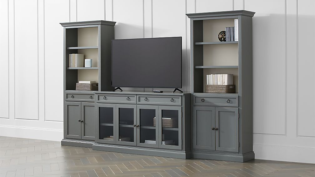 Cameo 3 Piece Modular Grey Media Entertainment Cen