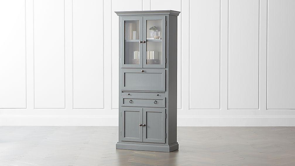 Cameo Grey Secretary Desk - Image 1 of 12