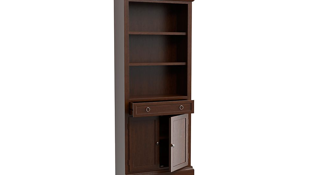 Cameo Aretina Walnut Left Storage Bookcase