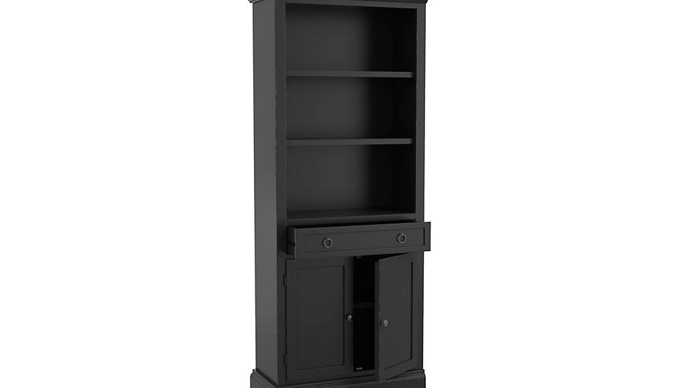 Cameo Bruno Black Left Storage Bookcase