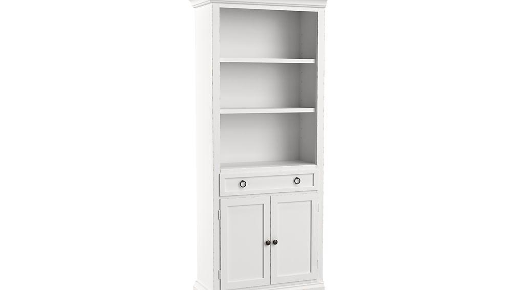 Cameo White Left Storage Bookcase