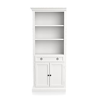 Superbe Cameo White Left Storage Bookcase