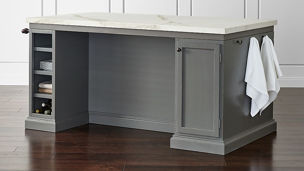kitchen island crate and barrel cameo 72 quot large kitchen island crate and barrel 8163