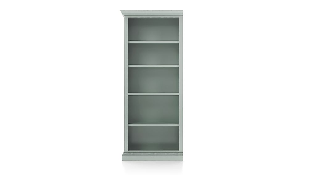 Cameo Blue Grey Open Bookcase with Left Crown - Image 1 of 3
