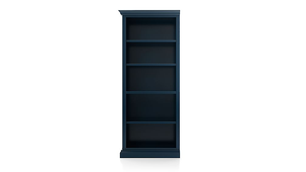 Cameo Indigo Open Bookcase with Left Crown - Image 1 of 3