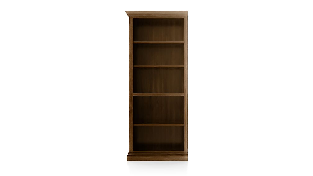 Cameo Nero Noce Open Bookcase with Left Crown - Image 1 of 3