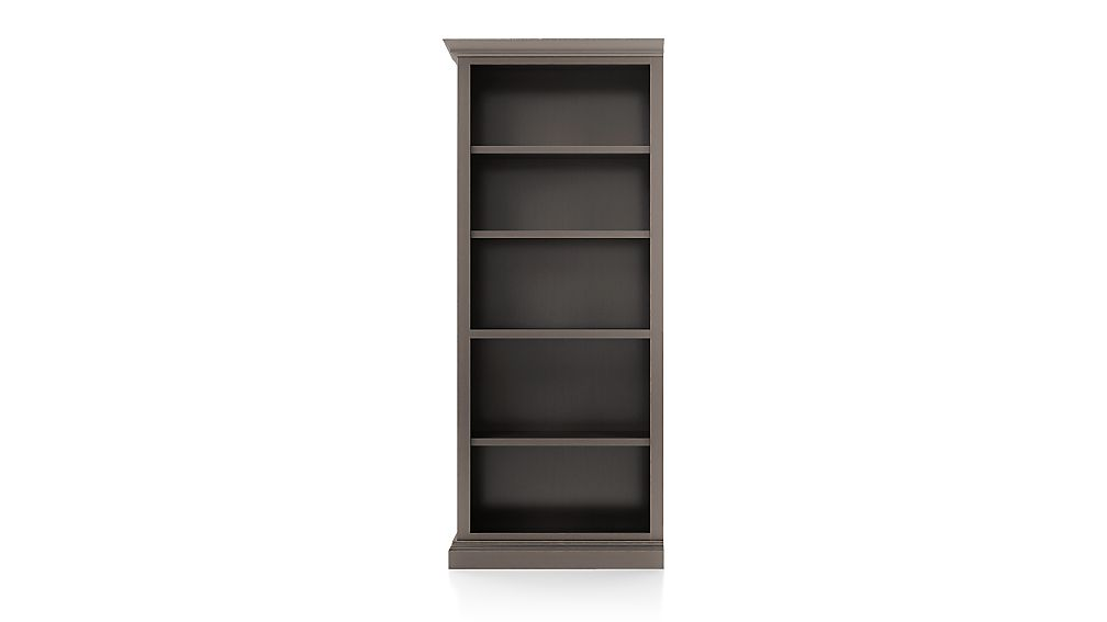 Cameo Grigio Open Bookcase with Left Crown - Image 1 of 3