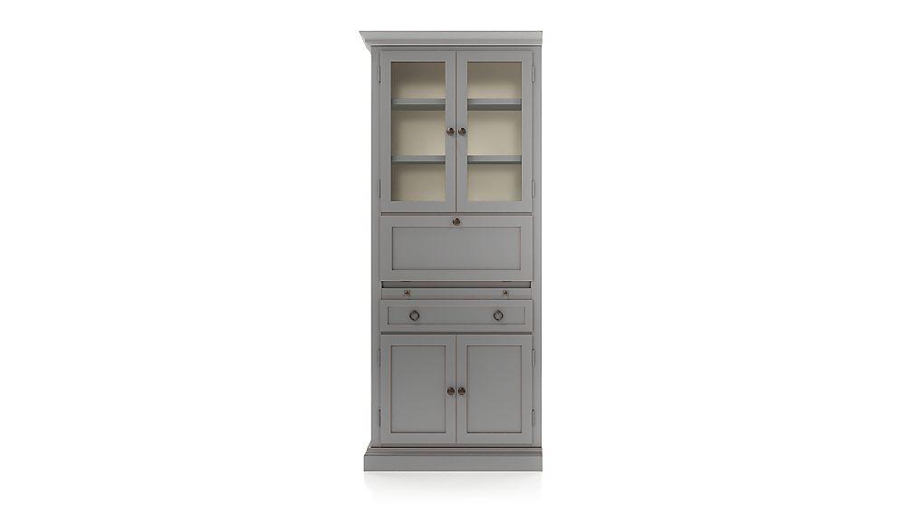 Cameo Grey Left Secretary Desk - Image 1 of 3