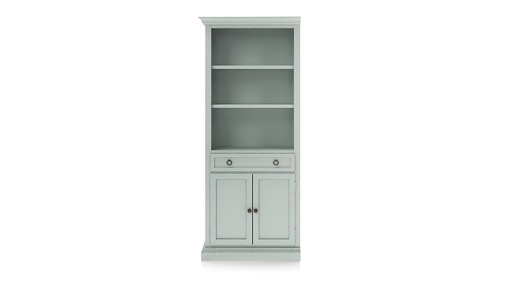 Cameo Blue Grey Storage Bookcase with Left Crown - Image 1 of 3