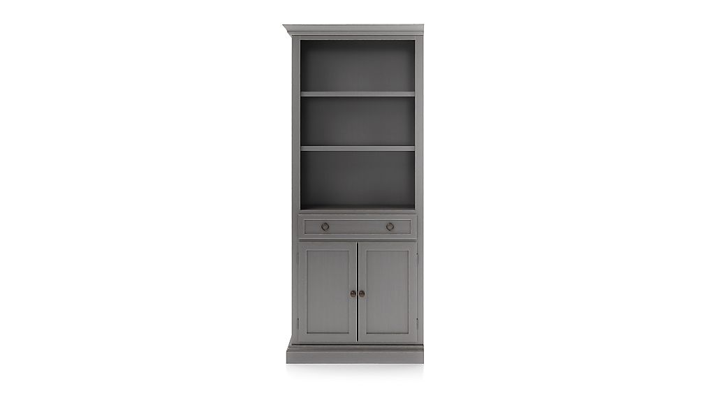Cameo Grigio Storage Bookcase with Left Crown - Image 1 of 3