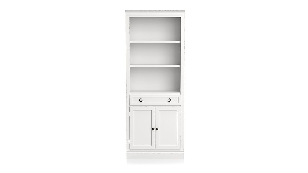 Cameo White Middle Storage Bookcase - Image 1 of 2