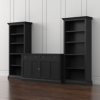 Cameo 3-Piece Modular Bruno Black Media Entertainment Center