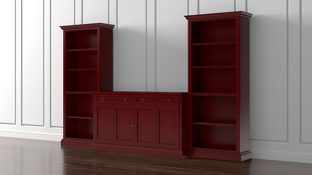 Cameo 3-Piece Modular Red Media Entertainment Center - Image 1 of 5