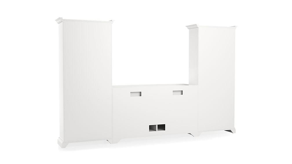 Cameo 3-Piece Modular White Media Entertainment Center
