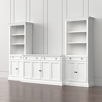 Cameo 3-Piece Modular White Media Entertainment Center
