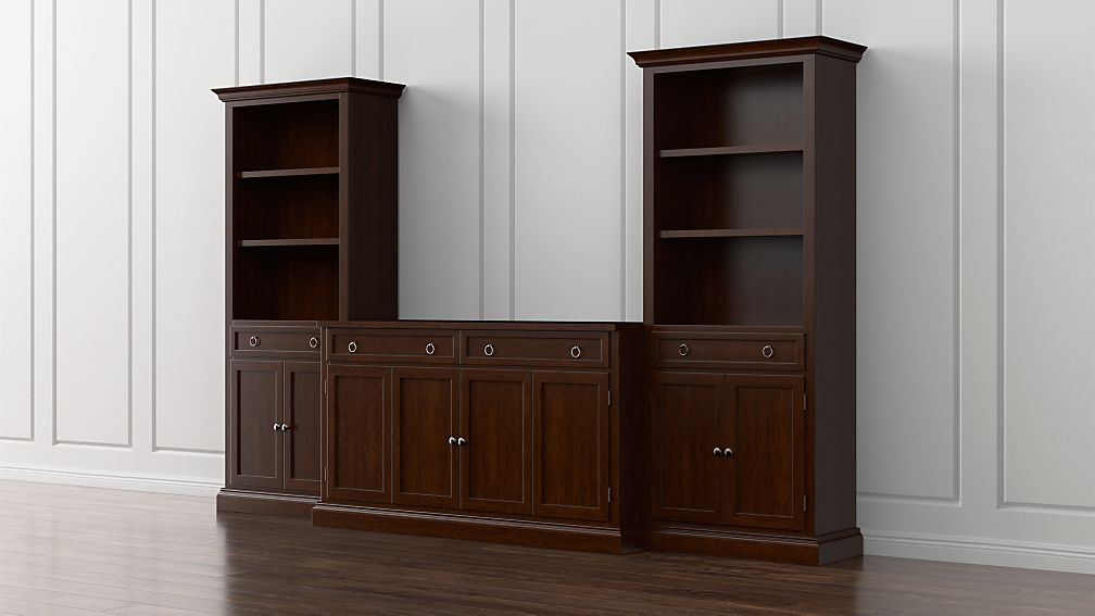 Cameo 3-Piece Modular Aretina Media Entertainment Center with Storage Boockases - Image 1 of 5