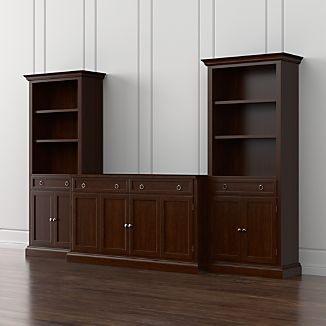 Cameo 3-Piece Modular Aretina Walnut Media Entertainment Center