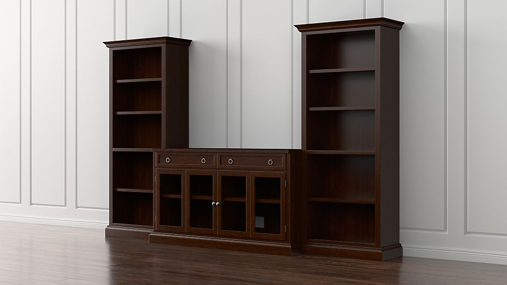 Cameo 3-Piece Modular Aretina Glass Door Media Entertainment Center - Image 1 of 5