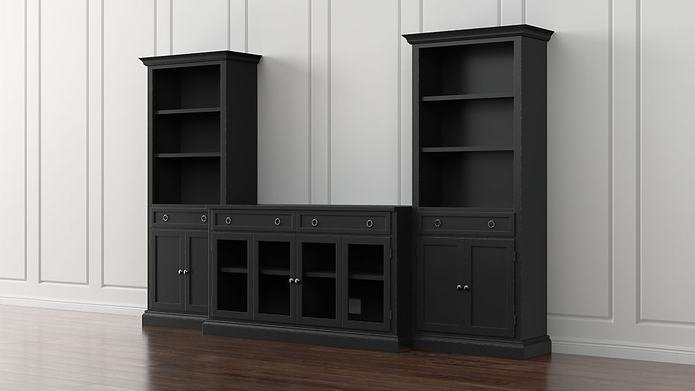 Cameo 3-Piece Modular Bruno Glass Door Media Center - Image 1 of 5