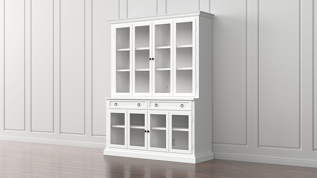 Cameo 2 Piece Modular White Gl Door Wall Unit Reviews Crate