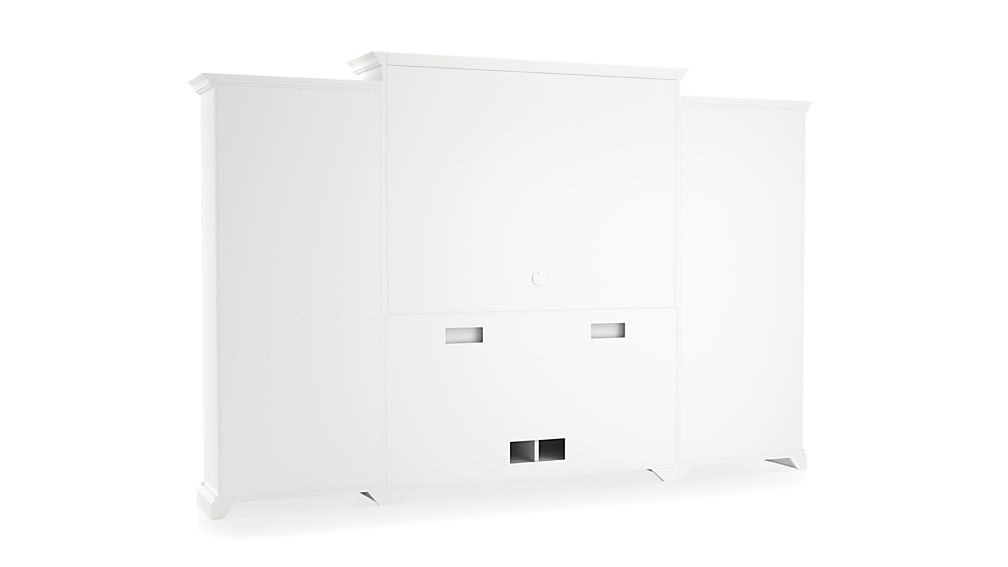 Cameo 4-Piece White Open Bookcase Entertainment Center