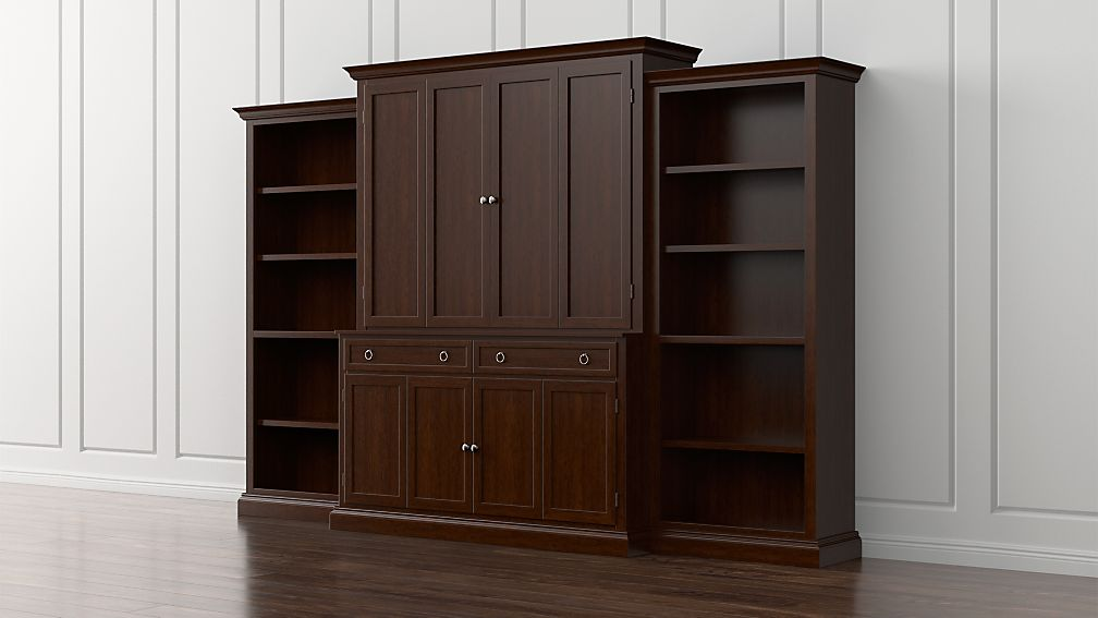 Cameo 4-Piece Aretina Open Bookcase Entertainment Center - Image 1 of 5