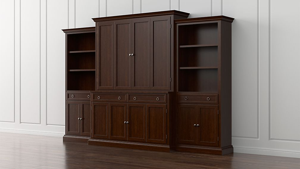 Cameo 4-Piece Aretina Storage Bookcase Entertainment Center - Image 1 of 5