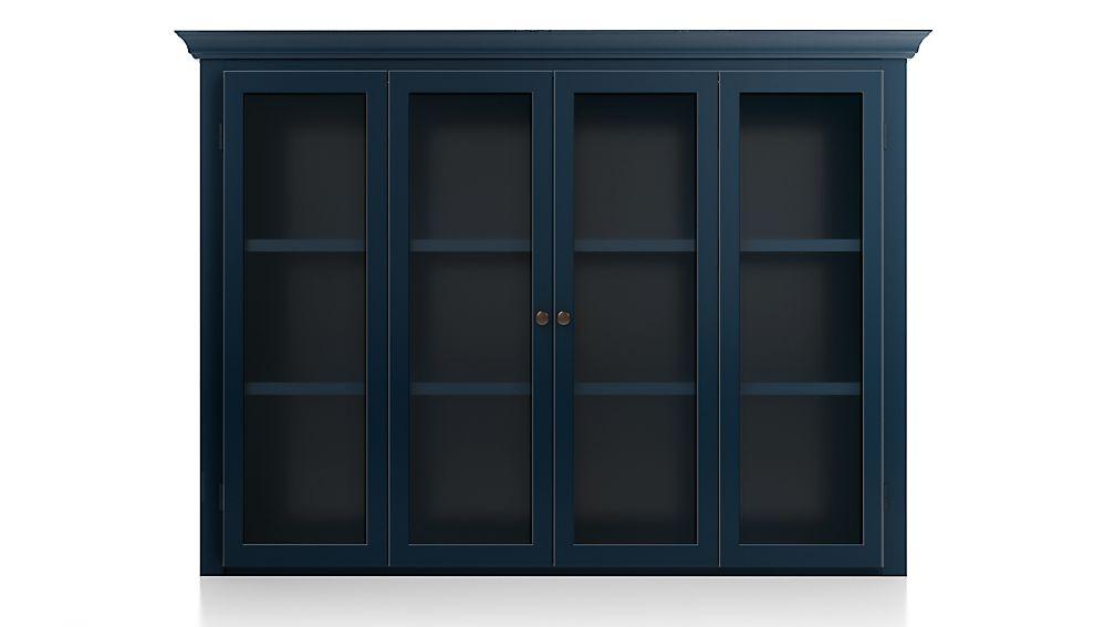 Cameo Indigo Modular Hutch with Glass Doors - Image 1 of 3