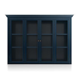 Cameo Indigo Modular Hutch with Glass Doors