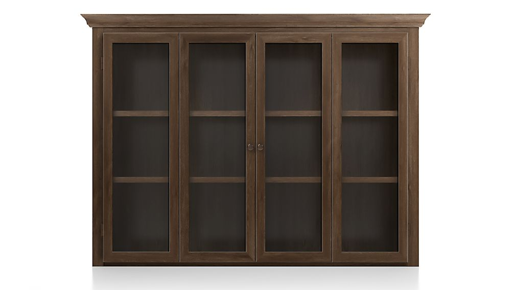 Cameo Nero Noce Modular Hutch with Glass Doors - Image 1 of 3