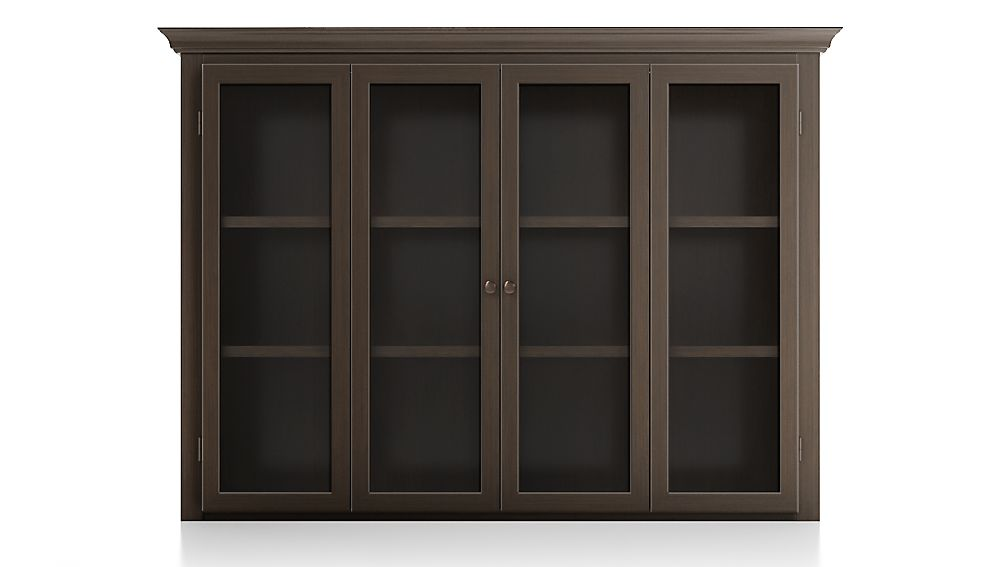 Cameo Pinot Lancaster Modular Hutch with Glass Doors - Image 1 of 2