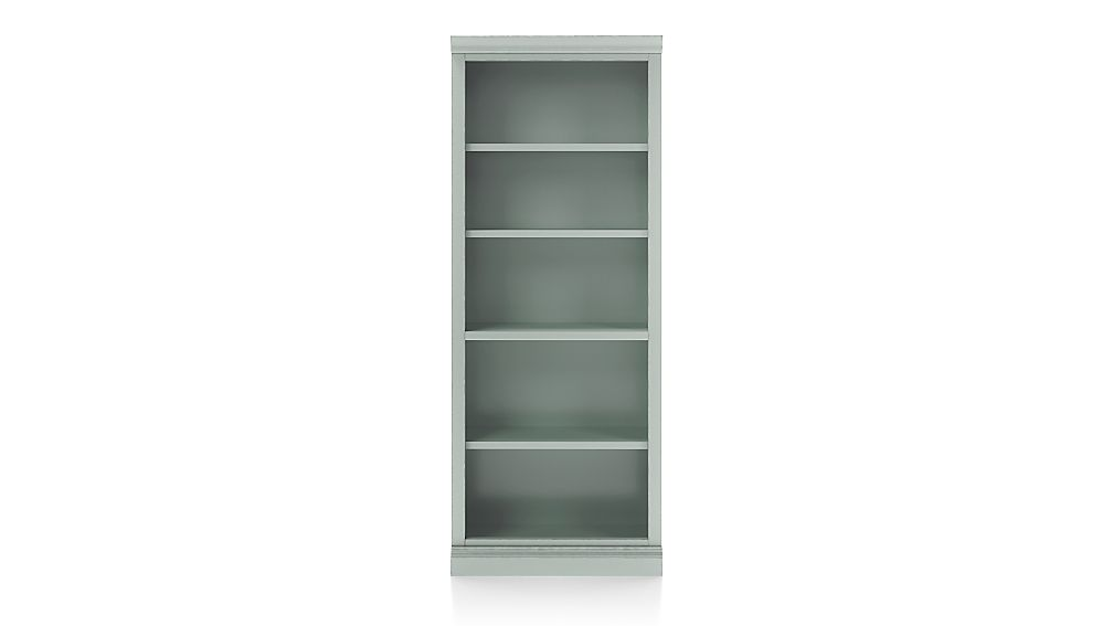 Cameo Blue Grey Open Bookcase with Middle Crown - Image 1 of 3