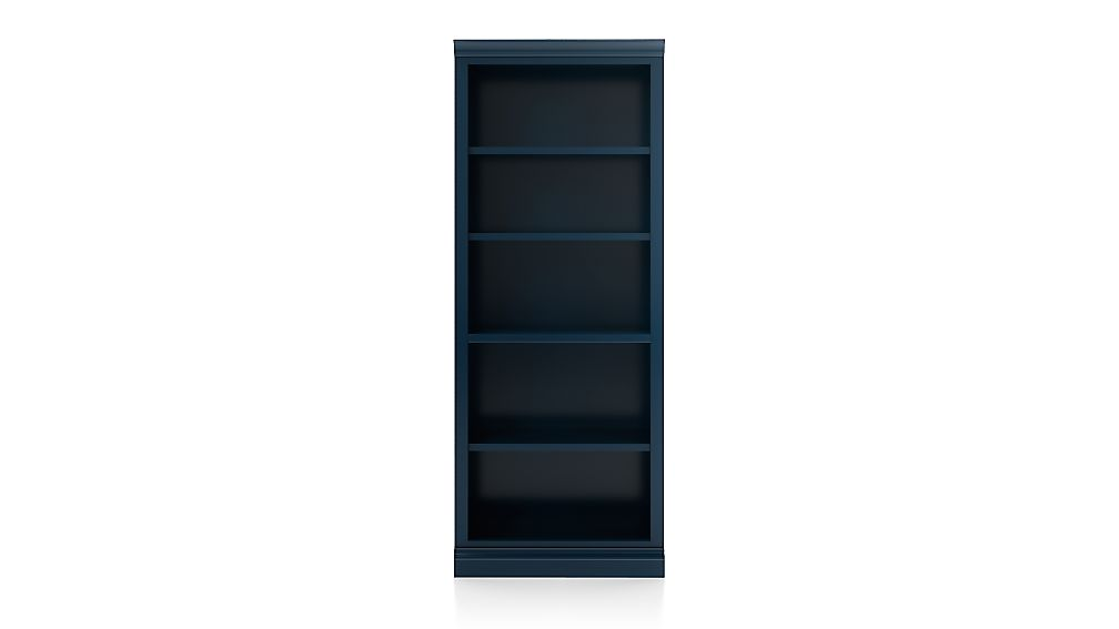Cameo Indigo Open Bookcase with Middle Crown - Image 1 of 2