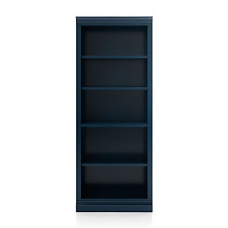 Cameo Indigo Open Bookcase with Middle Crown