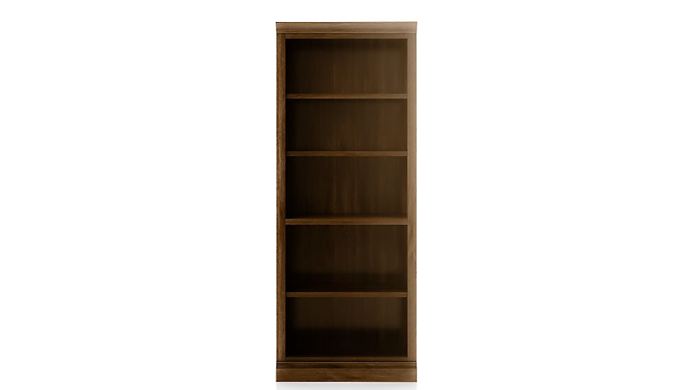 Cameo Nero Noce Open Bookcase with Middle Crown - Image 1 of 3