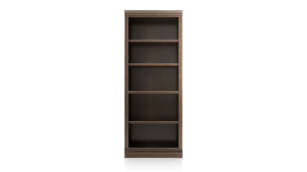 Cameo Pinot Lancaster Open Bookcase with Middle Crown - Image 1 of 2