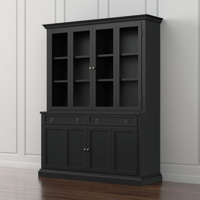 Cameo 2 Piece Bruno Black Glass Door Wall Unit Reviews