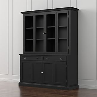 Cameo 2-Piece Bruno Black Glass Door Wall Unit