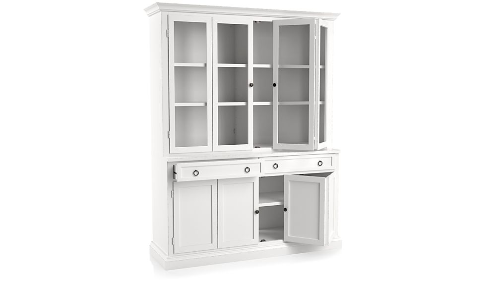 Cameo 2-Piece White Glass Door Wall Unit