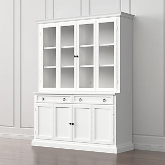 Cameo 2 Piece White Glass Door Wall Unit