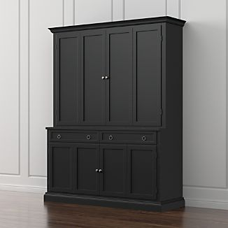 Cameo 2-Piece Bruno Black Entertainment Center