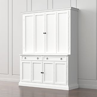 Cameo 2-Piece White Entertainment Center