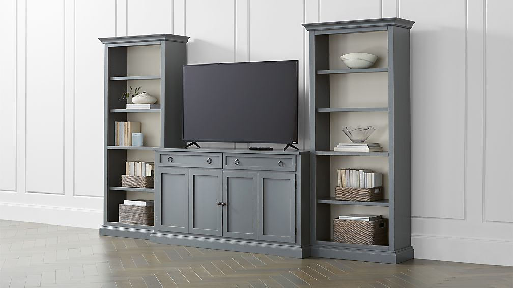 Cameo 3-Piece Modular Grey Media Entertainment Center - Image 1 of 4