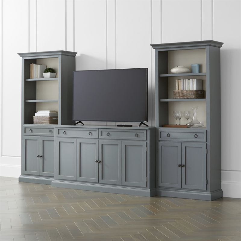 Cameo 3 Piece Modular Grey Media Entertainment Center With