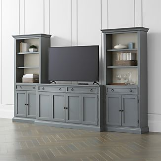 Cameo 3-Piece Modular Grey Media Entertainment Center