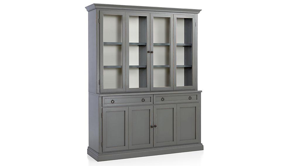 Cameo 2-Piece Grey Glass Door Wall Unit