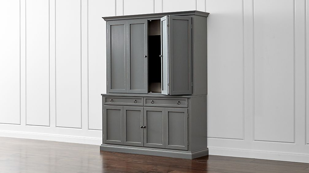Cameo 2-Piece Grey Entertainment Center