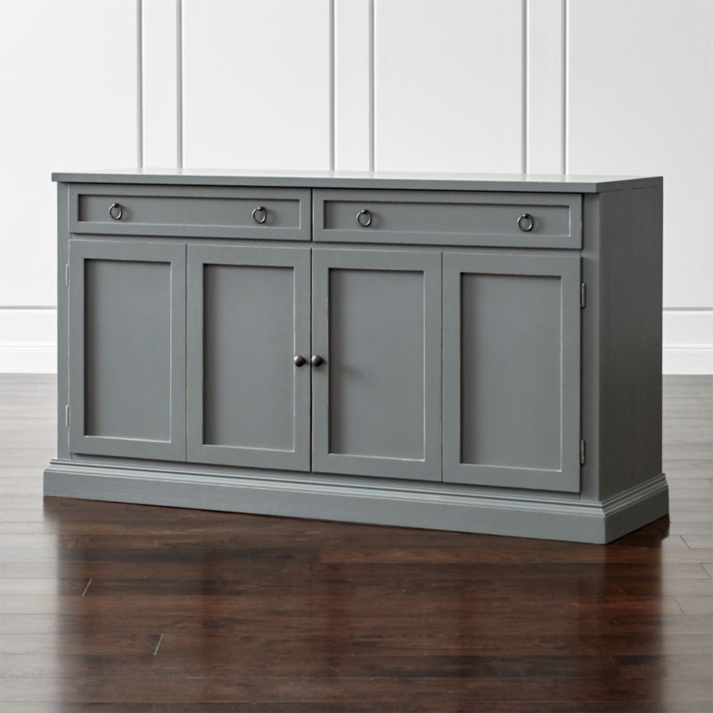 Cameo 62 grey modular media console in tv stands media for Tv media storage cabinet