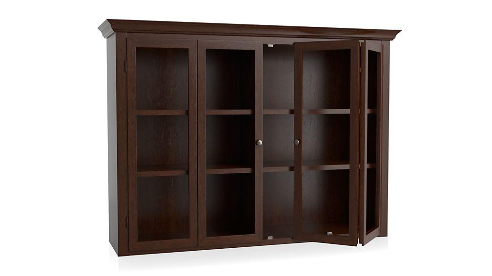 Cameo Aretina Walnut Modular Hutch with Glass Doors