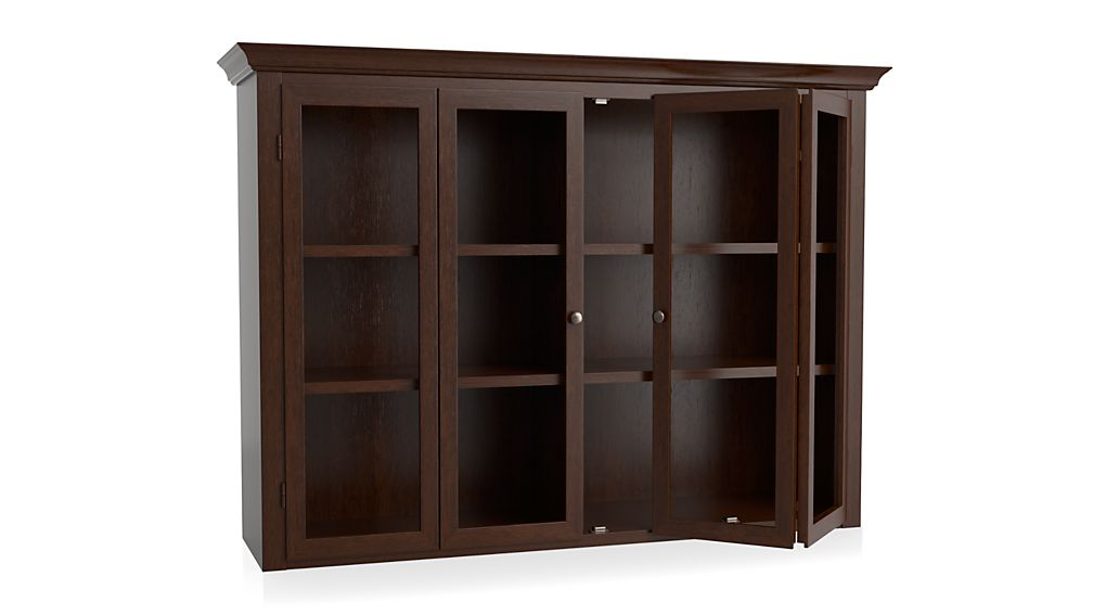 Cameo Aretina Walnut Modular Hutch with Glass Doors